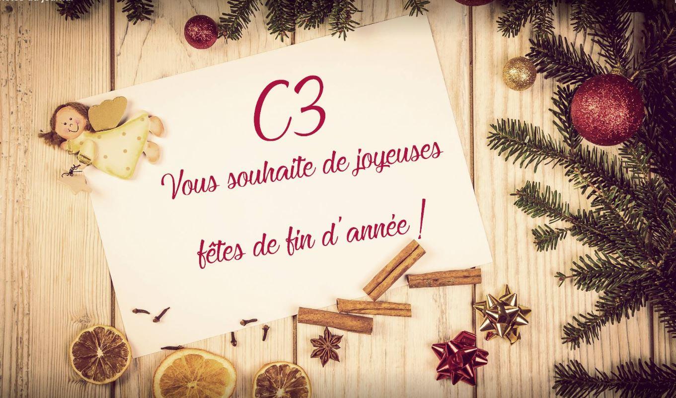 C3 vous souhaite de bonnes fêtes
