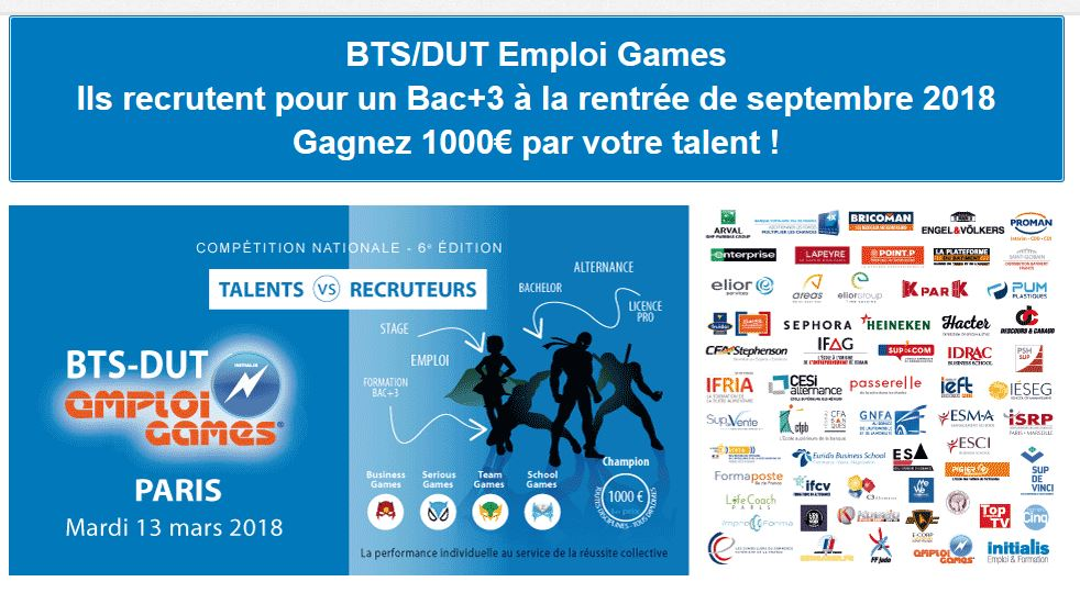 emplois games